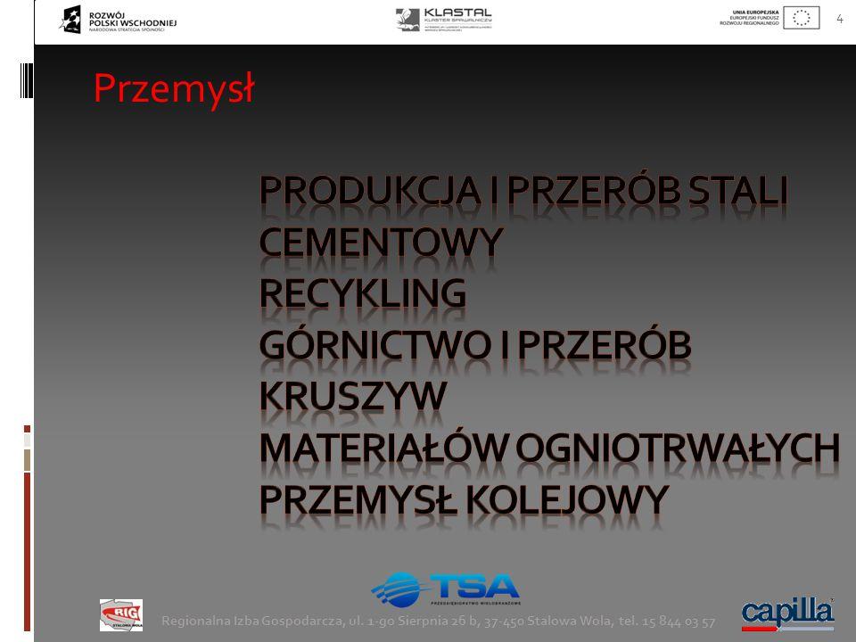4 Regionalna Izba Gospodarcza, ul. 1-go Sierpnia 26 b, 37-450 Stalowa Wola, tel. 15 844 03 57 Przemysł