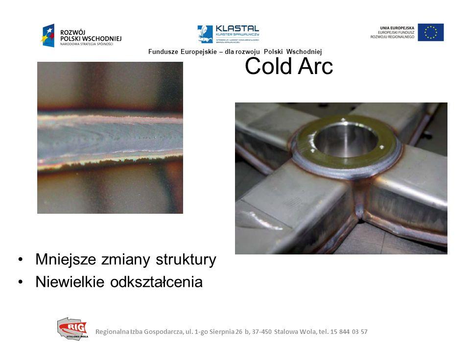 Mniejsze zmiany struktury Niewielkie odkształcenia Cold Arc Regionalna Izba Gospodarcza, ul. 1-go Sierpnia 26 b, 37-450 Stalowa Wola, tel. 15 844 03 5