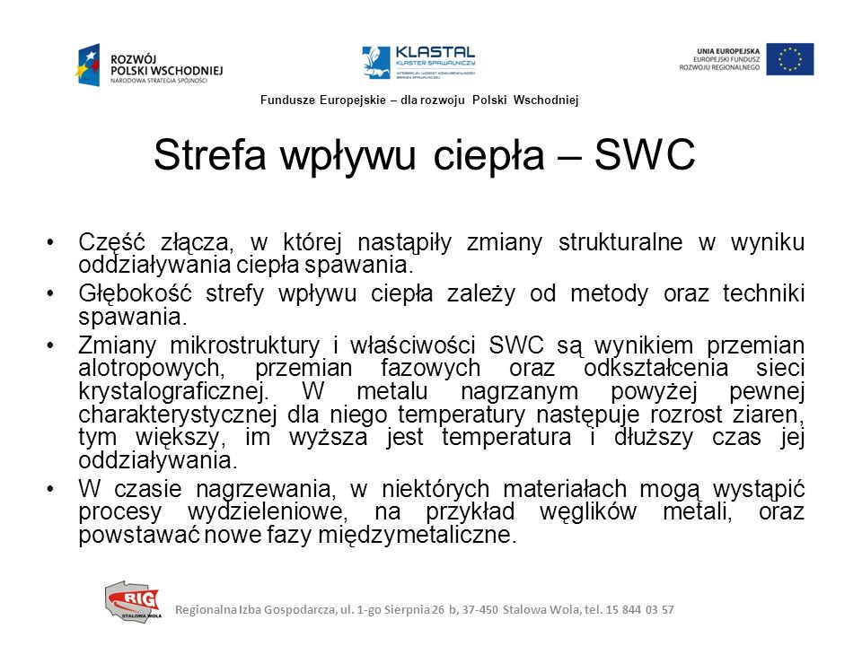 Spawanie wiązką elektronów Regionalna Izba Gospodarcza, ul.