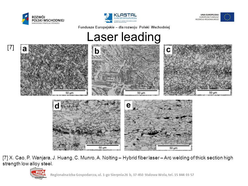 Laser leading Regionalna Izba Gospodarcza, ul. 1-go Sierpnia 26 b, 37-450 Stalowa Wola, tel. 15 844 03 57 Fundusze Europejskie – dla rozwoju Polski Ws