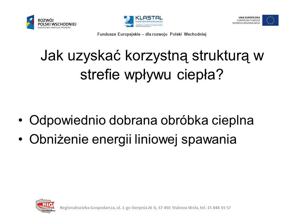 Mniejsze zmiany struktury Niewielkie odkształcenia Cold Arc Regionalna Izba Gospodarcza, ul.
