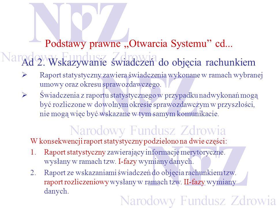 KS-SWD – raport statystyczny (5/5) Przeglądanie problemów walidacji przeprowadzonej w OW NFZ
