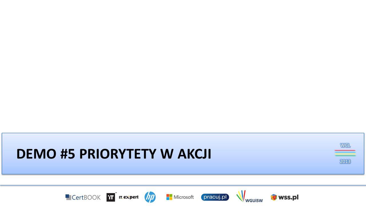 DEMO #5 PRIORYTETY W AKCJI