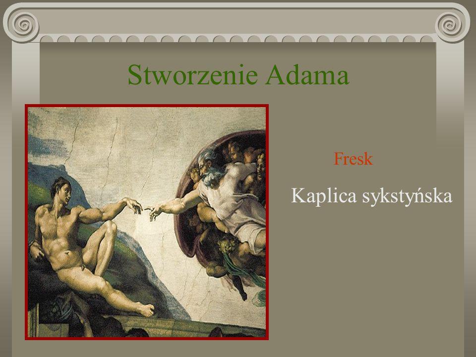 Stworzenie Adama Fresk Kaplica sykstyńska