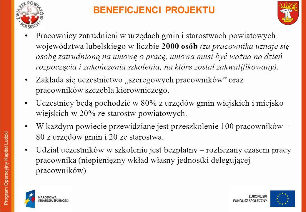 Pracownicy zatrudnieni w urzędach gmin i starostwach powiatowych województwa lubelskiego w liczbie 2000 osób (za pracownika uznaje się osobę zatrudnio