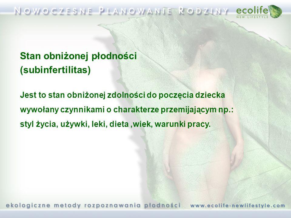 Wpływ leków na obraz śluzu (2) Działanie wysuszające śluz: - progesteron - kortykosteroidy - narkotyki - leki psychotropowe - leki przeciwhistaminowe - leki moczopędne Antybiotyki – wtórne infekcje dróg rodnych