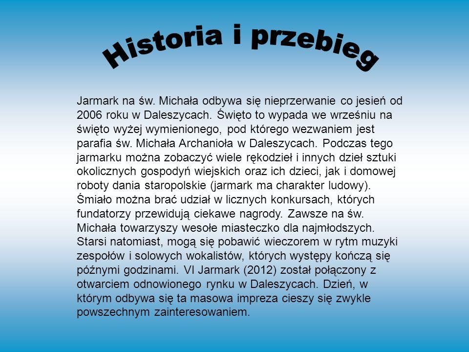 Jarmark na św. Michała odbywa się nieprzerwanie co jesień od 2006 roku w Daleszycach.