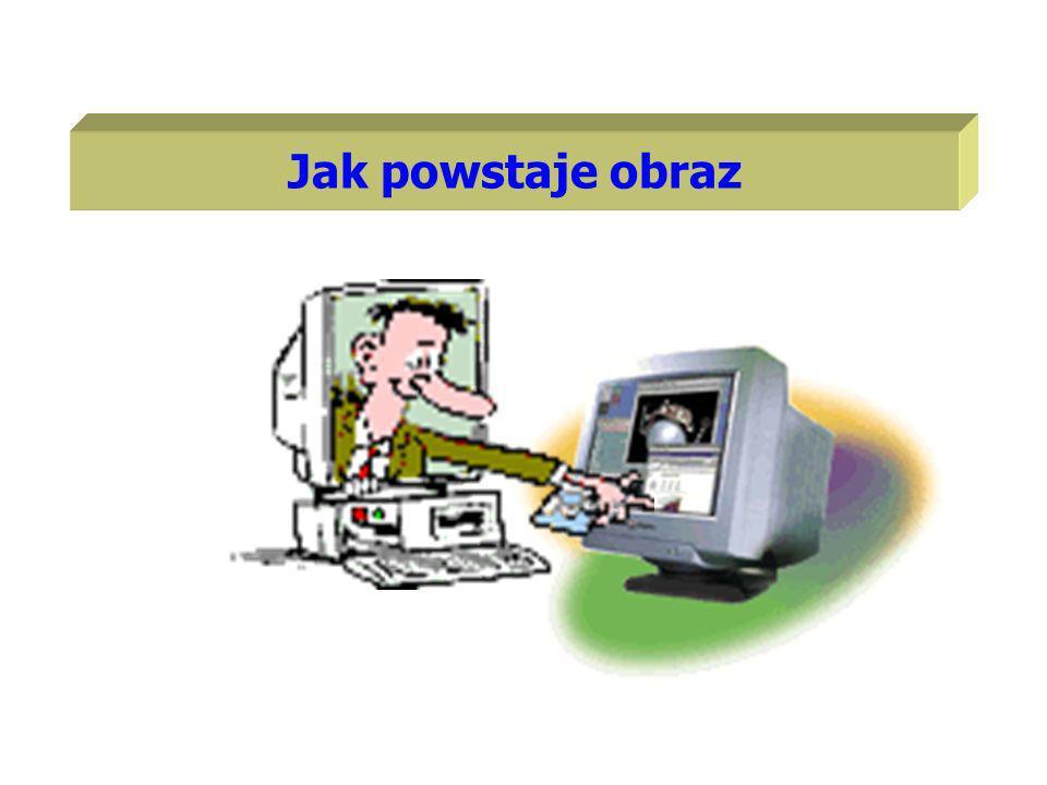 Zasada wyświetlania obrazu na ekranie monitora jest podobna jak w odbiornikach telewizyjnych.