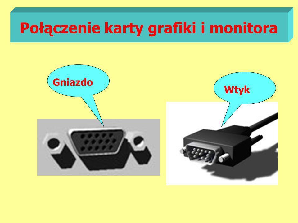 Połączenie karty grafiki i monitora Gniazdo Wtyk