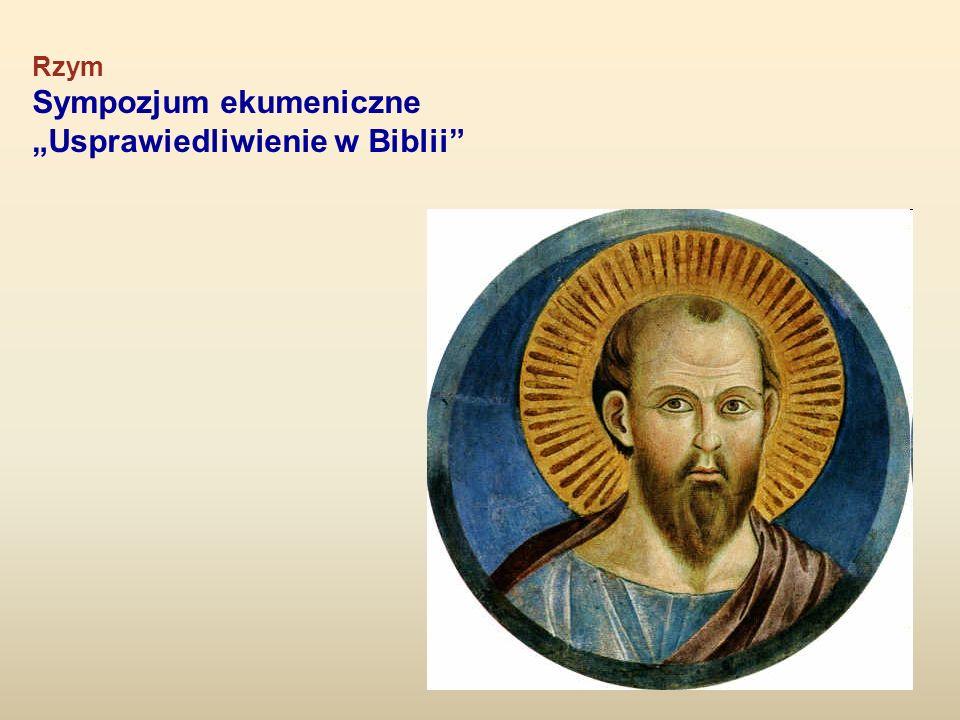 Rzym Sympozjum ekumeniczne Usprawiedliwienie w Biblii