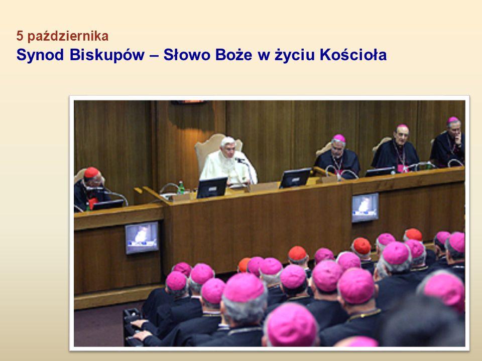 5 października Synod Biskupów – Słowo Boże w życiu Kościoła