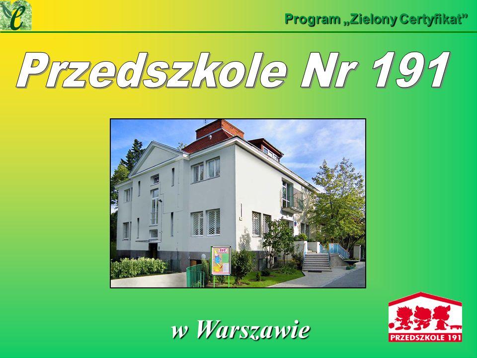 Przedszkole nr 191 w Warszawie w Warszawie w Warszawie