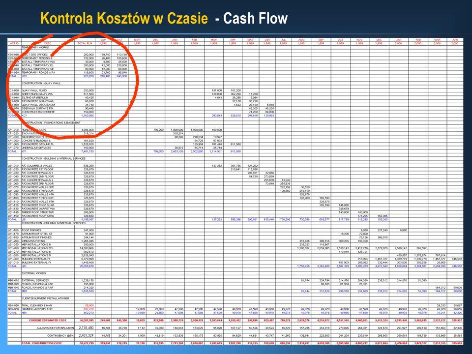 Kontrola Kosztów w Czasie - Cash Flow