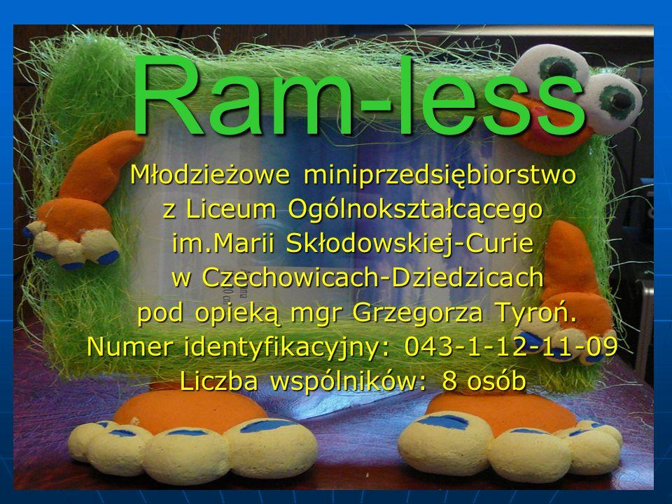 Ram-less Młodzieżowe miniprzedsiębiorstwo z Liceum Ogólnokształcącego im.Marii Skłodowskiej-Curie w Czechowicach-Dziedzicach w Czechowicach-Dziedzicac