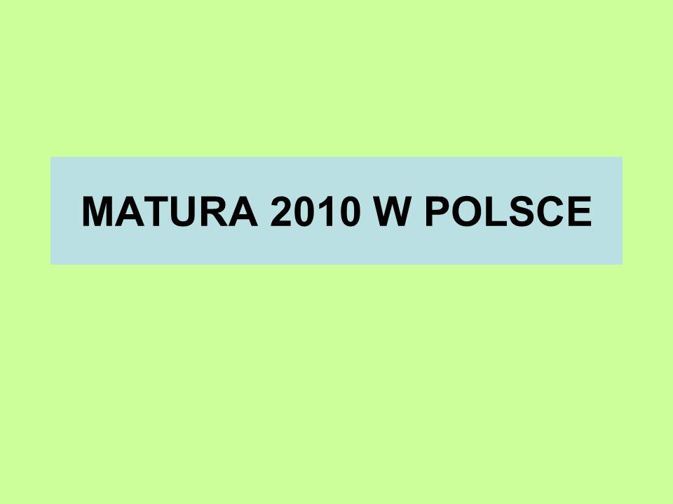 MATURA 2010 W POLSCE