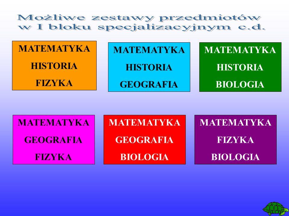MATEMATYKA HISTORIA FIZYKA MATEMATYKA HISTORIA GEOGRAFIA MATEMATYKA GEOGRAFIA FIZYKA MATEMATYKA HISTORIA BIOLOGIA MATEMATYKA GEOGRAFIA BIOLOGIA MATEMATYKA FIZYKA BIOLOGIA