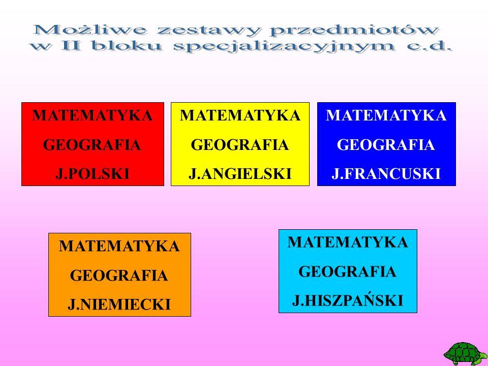MATEMATYKA GEOGRAFIA J.POLSKI MATEMATYKA GEOGRAFIA J.ANGIELSKI MATEMATYKA GEOGRAFIA J.FRANCUSKI MATEMATYKA GEOGRAFIA J.NIEMIECKI MATEMATYKA GEOGRAFIA