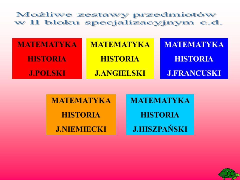 MATEMATYKA HISTORIA J.POLSKI MATEMATYKA HISTORIA J.ANGIELSKI MATEMATYKA HISTORIA J.FRANCUSKI MATEMATYKA HISTORIA J.NIEMIECKI MATEMATYKA HISTORIA J.HISZPAŃSKI