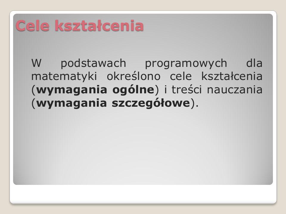 Wymagania ogólne - klasy IV-VI szkoły podstawowej I.