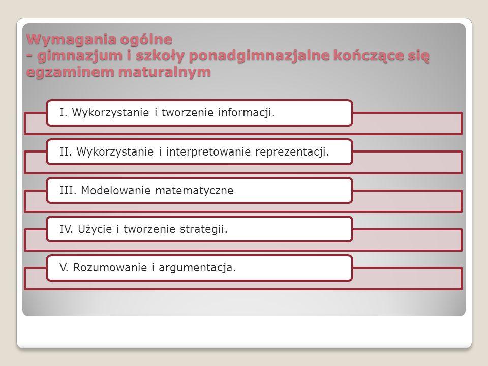 Wymagania szczegółowe Treści nauczania zawarte w PP – zapis porządkuje kolejność przyjętą w dokumencie programowym MEN.