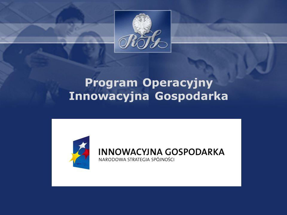 Program Innowacyjna Gospodarka to jeden z 6 programów krajowych Narodowych Strategicznych Ram Odniesienia, który finansowany jest ze środków europejskich.