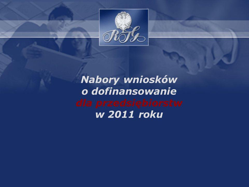 Nabory wniosków o dofinansowanie dla przedsiębiorstw w 2011 roku