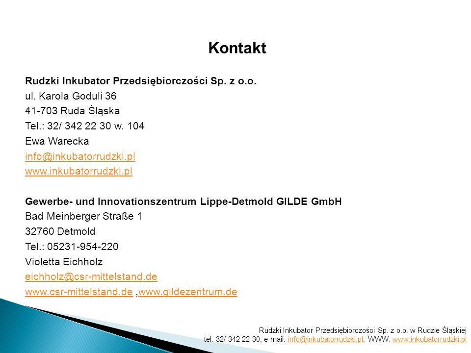 Kontakt Rudzki Inkubator Przedsiębiorczości Sp. z o.o.