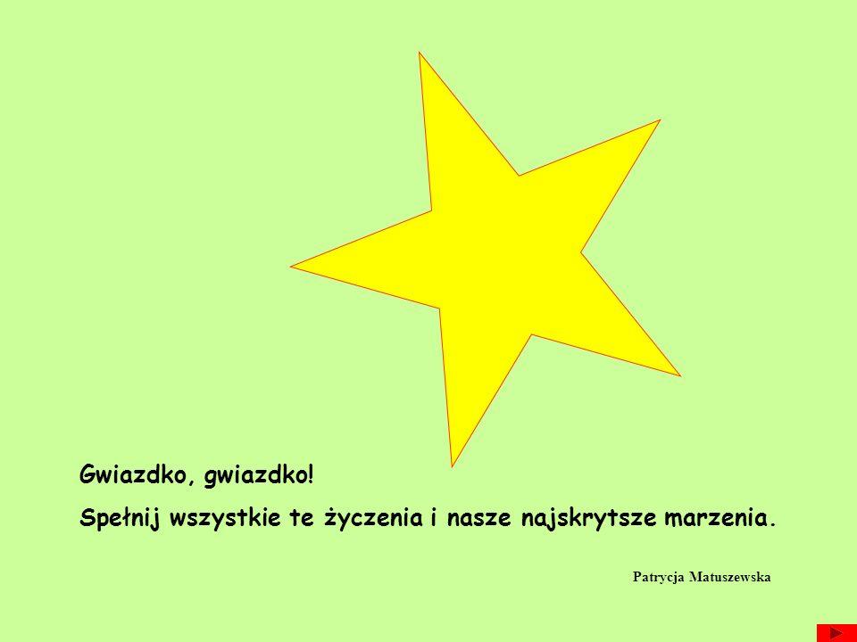 Gwiazdko, gwiazdko! Spełnij wszystkie te życzenia i nasze najskrytsze marzenia. Patrycja Matuszewska