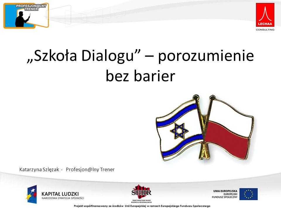 Szkoła Dialogu – porozumienie bez barier Katarzyna Szlęzak - Profesjon@lny Trener