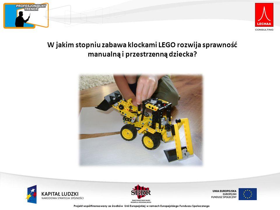 W jakim stopniu zabawa klockami LEGO rozwija sprawność manualną i przestrzenną dziecka?