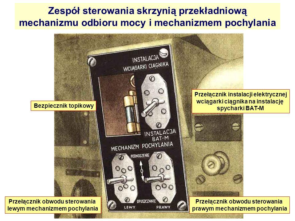 Zespół sterowania skrzynią przekładniową mechanizmu odbioru mocy i mechanizmem pochylania Bezpiecznik topikowy Przełącznik instalacji elektrycznej wci