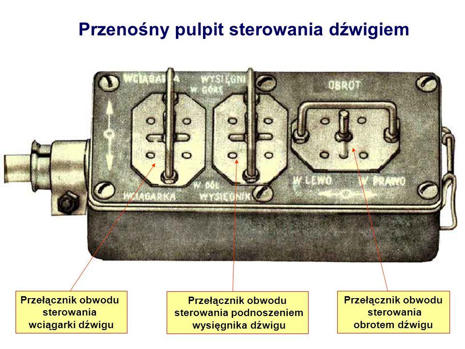 Przenośny pulpit sterowania dźwigiem Przełącznik obwodu sterowania wciągarki dźwigu Przełącznik obwodu sterowania podnoszeniem wysięgnika dźwigu Przeł