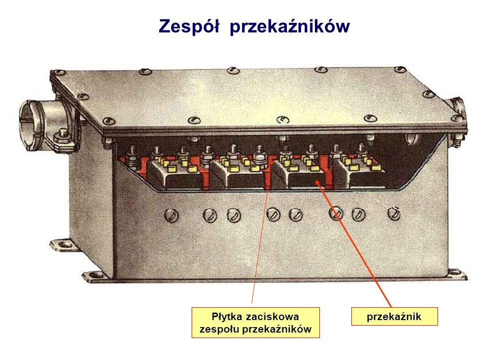 Zespół przekaźników przekaźnikPłytka zaciskowa zespołu przekaźników