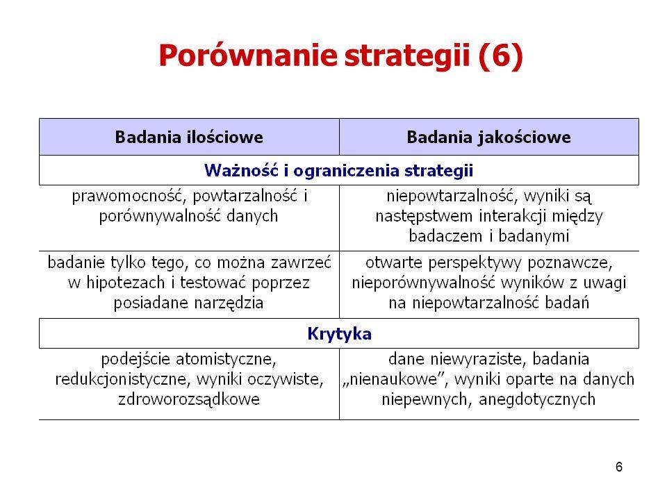 7 Wybór strategii Jak prowadzić proces eksploracji (odkrywania, badania).