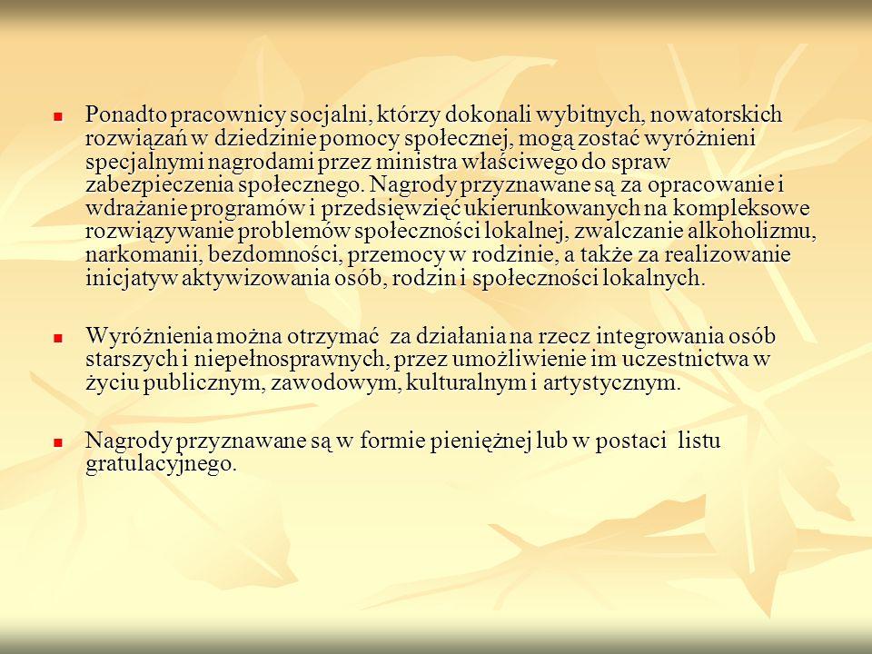 ZADANIA Art.119 1.Do zadań pracownika socjalnego należy w szczególności: 1.