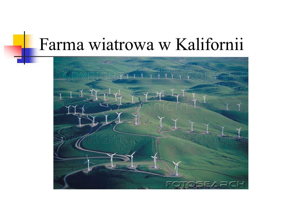 Farma wiatrowa w Kalifornii