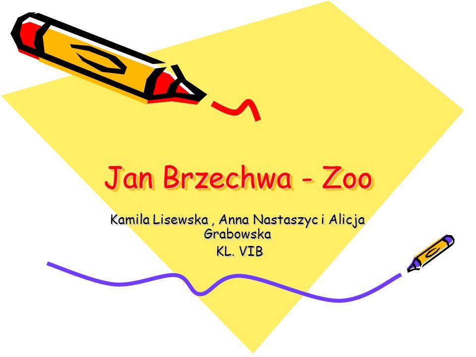 Jan Brzechwa - Zoo Kamila Lisewska, Anna Nastaszyc i Alicja Grabowska KL. VIB KL. VIB