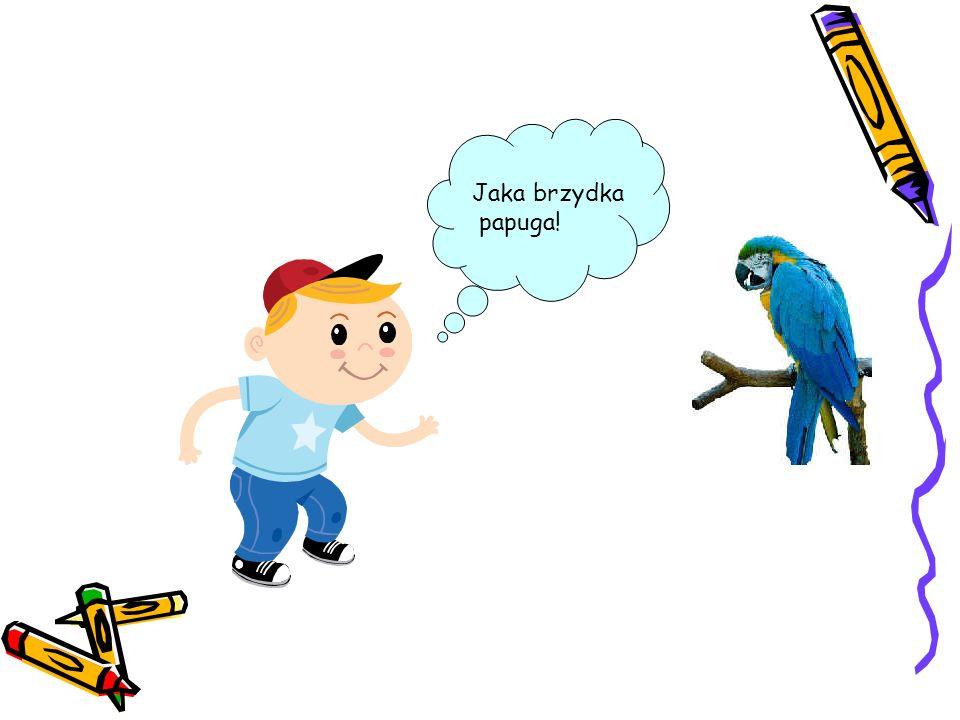 Jaka brzydka papuga!