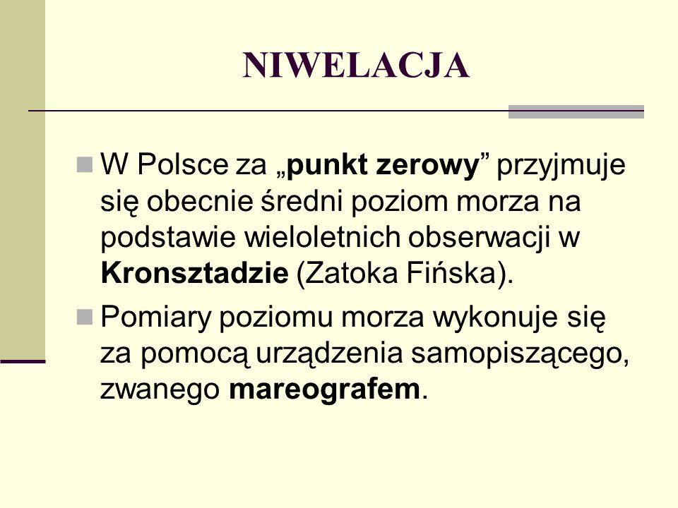 ŁATY NIWELACYJNE Łaty niwelacyjne służą do mierzenia odległości pionowej od niwelowanego punktu do płaszczyzny poziomej wyznaczonej przez oś celową niwelatora.