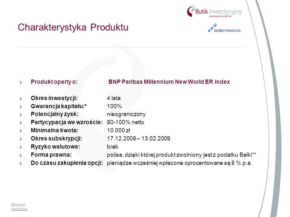 Strona 3 Czym jest BNP Paribas Millennium New World Index .