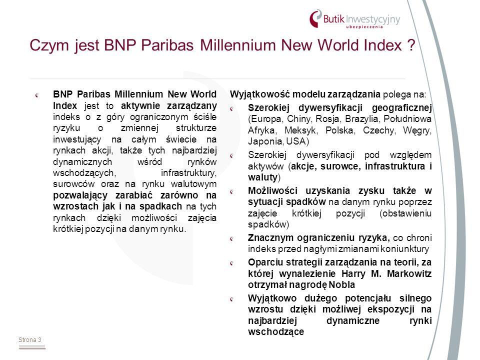 Strona 14 * Inwestycja Nowy Świat nie jest lokatą bankową i nie daje gwarancji uzyskania zysku za wyjątkiem zwrotu 100% początkowo zainwestowanej kwoty - gwarancja 100% kapitału na koniec okresu odpowiedzialności gwarantowana przez TUnŻ Europa S.A.