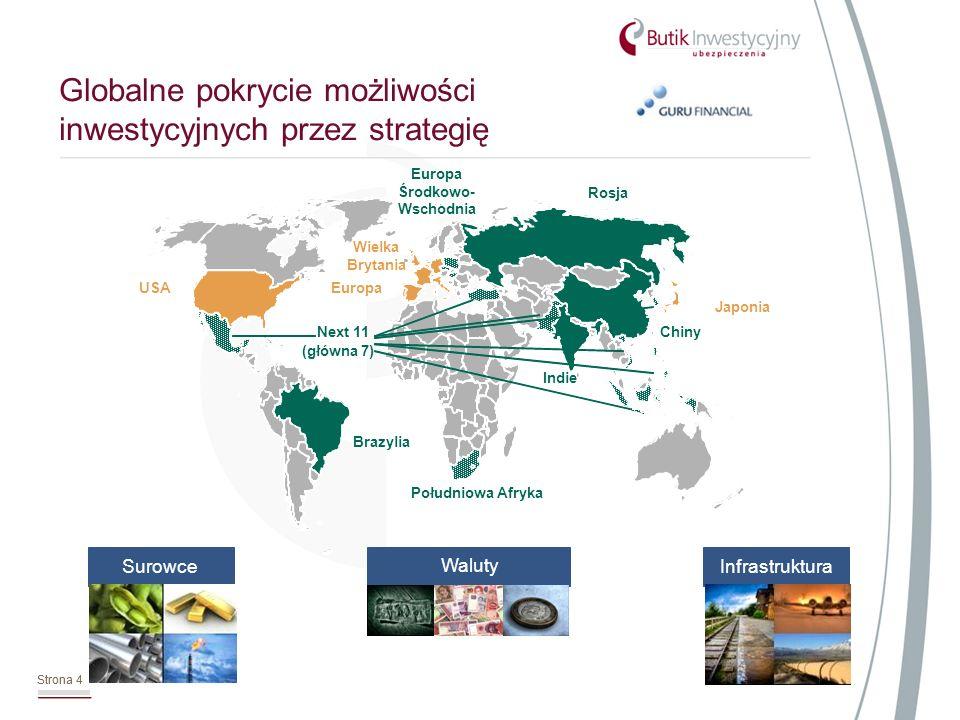 Strona 4 Globalne pokrycie możliwości inwestycyjnych przez strategię Strona 4