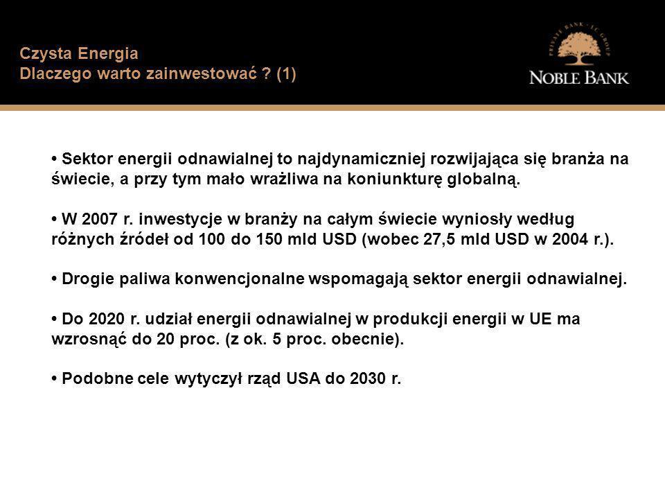 Jak wygląda sytuacja finansowa typowego Polaka? Czysta Energia Dlaczego warto zainwestować ? (1) Sektor energii odnawialnej to najdynamiczniej rozwija