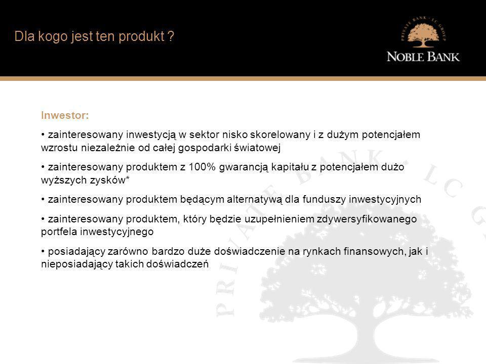 Jak wygląda sytuacja finansowa typowego Polaka? Dla kogo jest ten produkt ? Inwestor: zainteresowany inwestycją w sektor nisko skorelowany i z dużym p