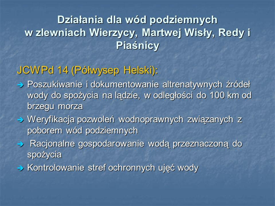 Działania dla wód podziemnych w zlewniach Wierzycy, Martwej Wisły, Redy i Piaśnicy JCWPd 14 (Półwysep Helski): Poszukiwanie i dokumentowanie altrenaty