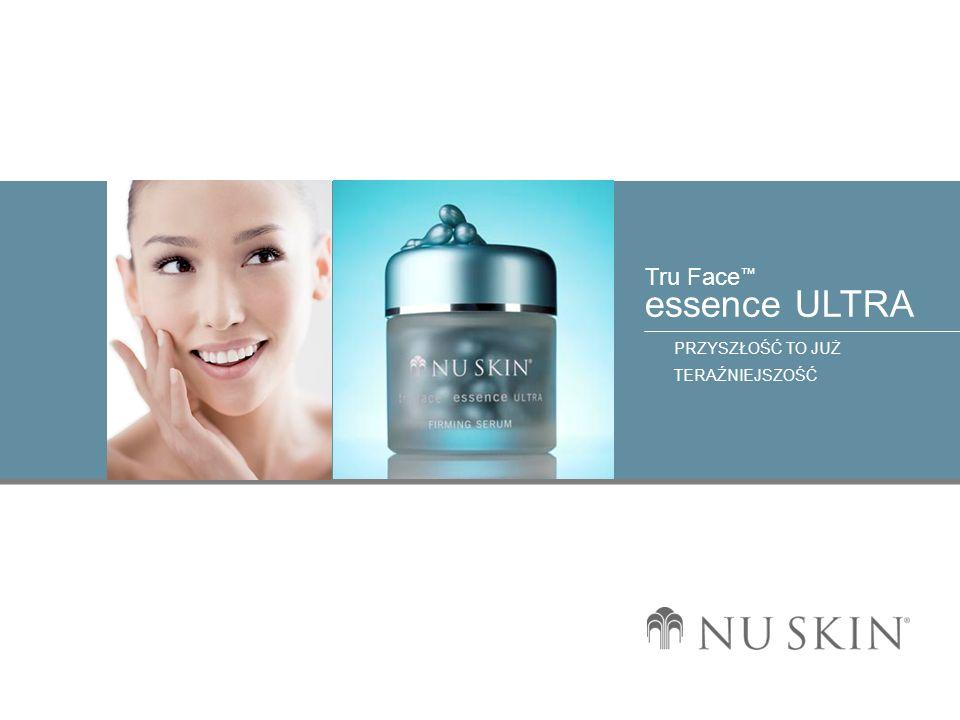 © 2001 Nu Skin International, Inc Tru Face essence ULTRA PRZYSZŁOŚĆ TO JUŻ TERAŹNIEJSZOŚĆ Opis korzyści b) Pomaga zapobiegać degradacji elastyny z inhibitorami elastase.