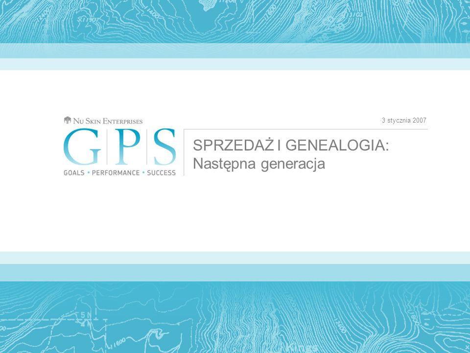 3 stycznia 2007 SPRZEDAŻ I GENEALOGIA: Następna generacja