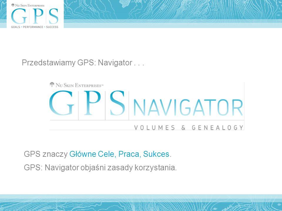 Przedstawiamy GPS: Navigator... GPS znaczy Główne Cele, Praca, Sukces.