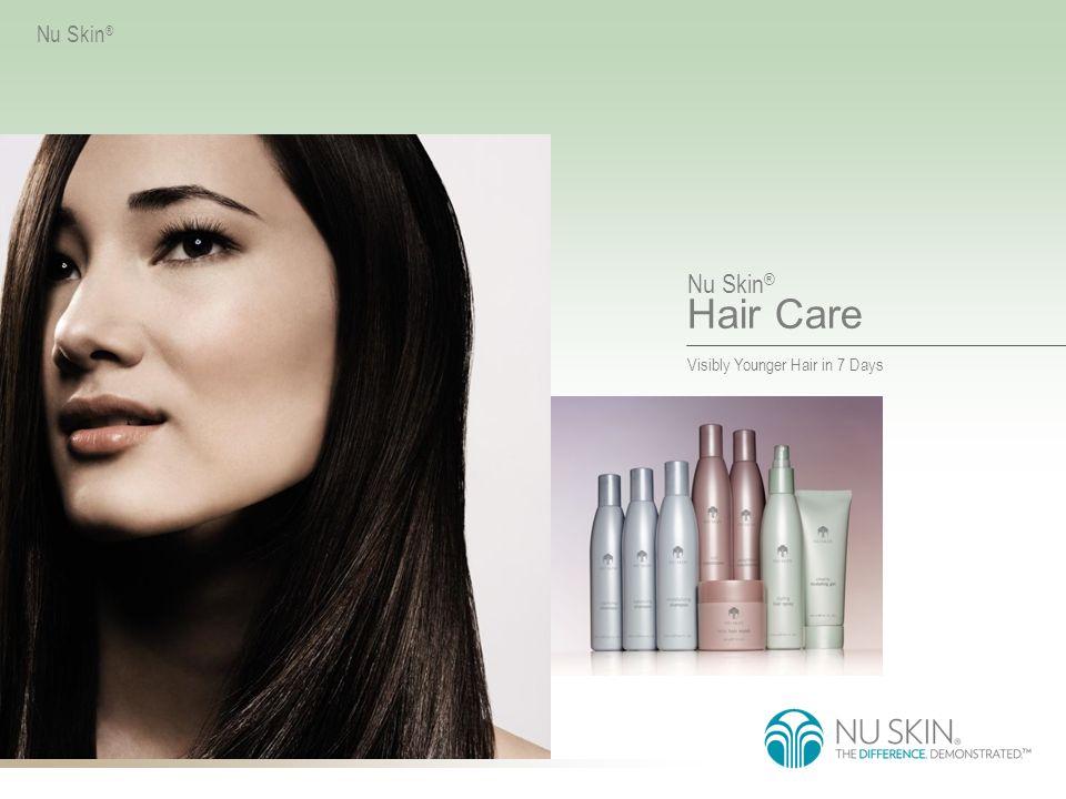 Nu Skin ® Hair Care VISIBLY YOUNGER HAIR IN 7 DAYS Nu Skin ® Zwiększona Objętość Nie musisz już wybierać pomiędzy koniecznym dla włosów nawilżeniem a Twoim wymarzonym efektem puszystości.