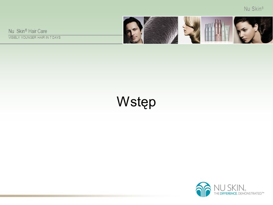 Nu Skin ® Hair Care VISIBLY YOUNGER HAIR IN 7 DAYS Nu Skin ® Wstęp